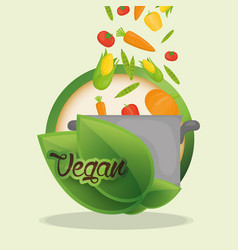 vegan food diet healthy nutrition vector image
