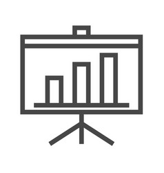 presentation bilboard thin line icon vector image