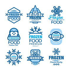 Frozen food premium product set of logo templates vector