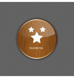 Favourites wood application icons vector