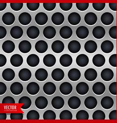 Metallic chrome texture background with dark vector
