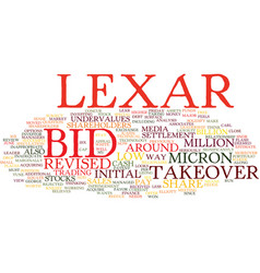 Lexar bid is inadequate text background word vector