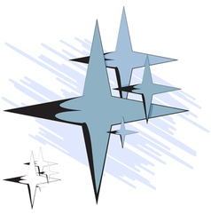 Group of four-pointed star vector