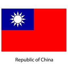 Flag the country republic of china vector
