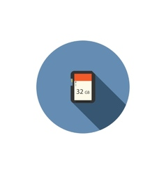 Sd card flat icon vector