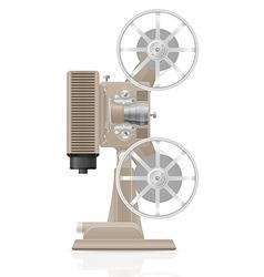Old retro movie film projector 02 vector