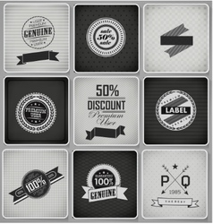 Premium guarantee and sale labels vector