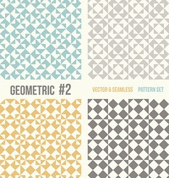 Set of four geometric patterns vector