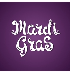 Mardi gras celebration poster with calligraphy vector