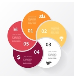 circle arrows infographic diagram graph vector image