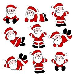 9 festive cute santa set vector image