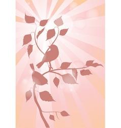 birds on a branch vector image