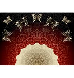 black-red elegance frame vector image vector image