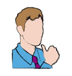 Business man portrait character wear shirt tie vector