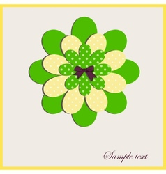 Card with a flower vector image vector image