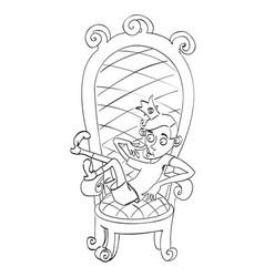 Cartoon image of idiot prince vector