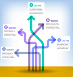 colorful 5 part infographic vector image vector image