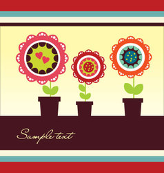 Cute frame design vector image vector image