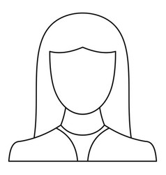 Female avatar icon thin line vector