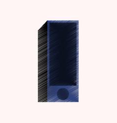 flat shading style icon subwoofer vector image