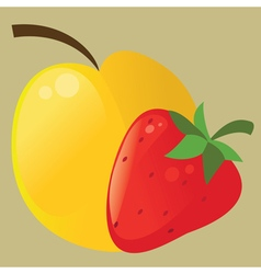 Fruit icon vector image vector image