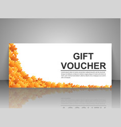 Gift voucher template with autumn background vector image vector image