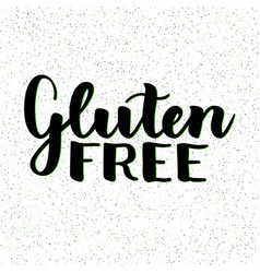 Gluten free product food organic nature hand vector