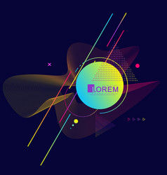 graphic background with geometric elements modern vector image
