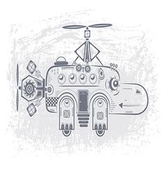 Hippopotamus helicopter vector