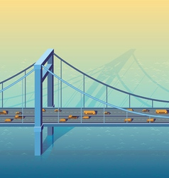 large bridge vector image vector image