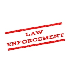 Law enforcement watermark stamp vector