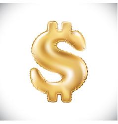metallic gold balloons golden dollar new year vector image