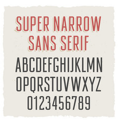 Narrow sans serif 003 vector
