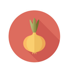 Onion flat icon vegetable vector