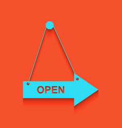 Open sign whitish icon on vector