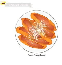Pisang Goreng or Fried Banana vector image