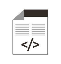 Programming window with script of coding data vector