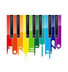 Rainbow fortepiano keyboard vector