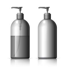 Realistic dispenser for soap vector