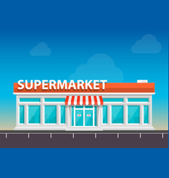 Supermarket on the roadside art vector