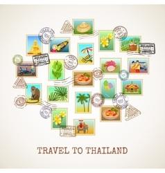 Thailand Postcard Poster vector image