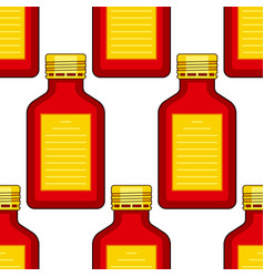 Tinted glass bottles pattern vector