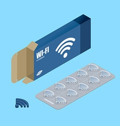 Wi fi vitamins tablets in pack natural products vector