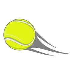 yellow tennis ball vector image vector image