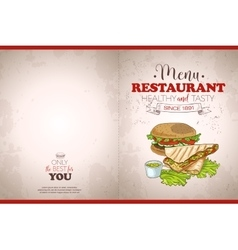 Cover color horisontal menu design vector