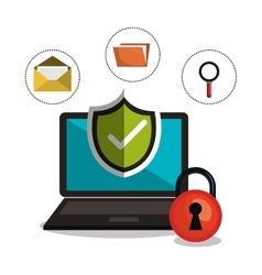 Internet security information icon vector