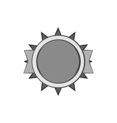 Excellent quality label icon monochrome style vector
