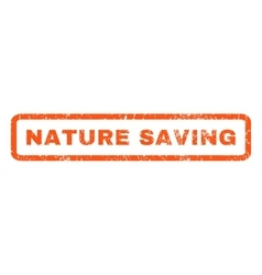 Nature saving rubber stamp vector
