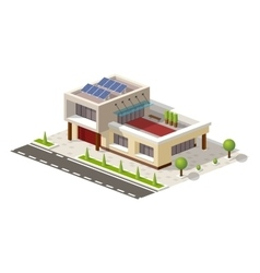 Isometric high-tech house vector