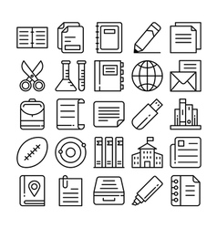 Education icons 7 vector